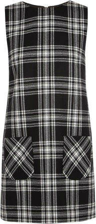 387135_Karl Lagerfeld - Punk tartan cotton mini dress