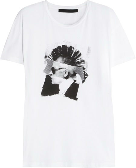 387149_Karl Lagerfeld - Never Mind printed cotton T-shirt