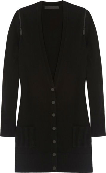387154_ Karl Lagerfeld - Joni zipped wool and cashmere-blend cardigan